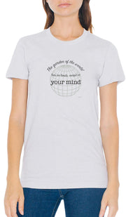 Rumi Quotes Fine Short Sleeve Unisex T Shirt -  No Limits - Gray