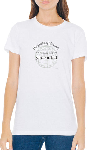 Rumi Quotes Fine Short Sleeve Unisex T Shirt -  Mind - White