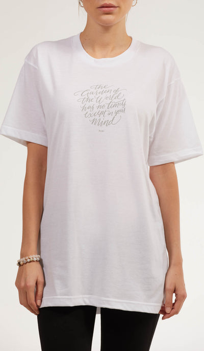 Rumi Quotes Fine Short Sleeve Unisex T Shirt - World - White