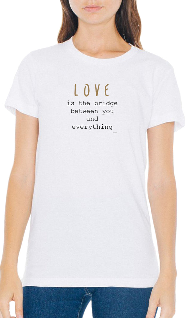 Rumi Quotes Fine Short Sleeve Womens T Shirt - Bridge - White