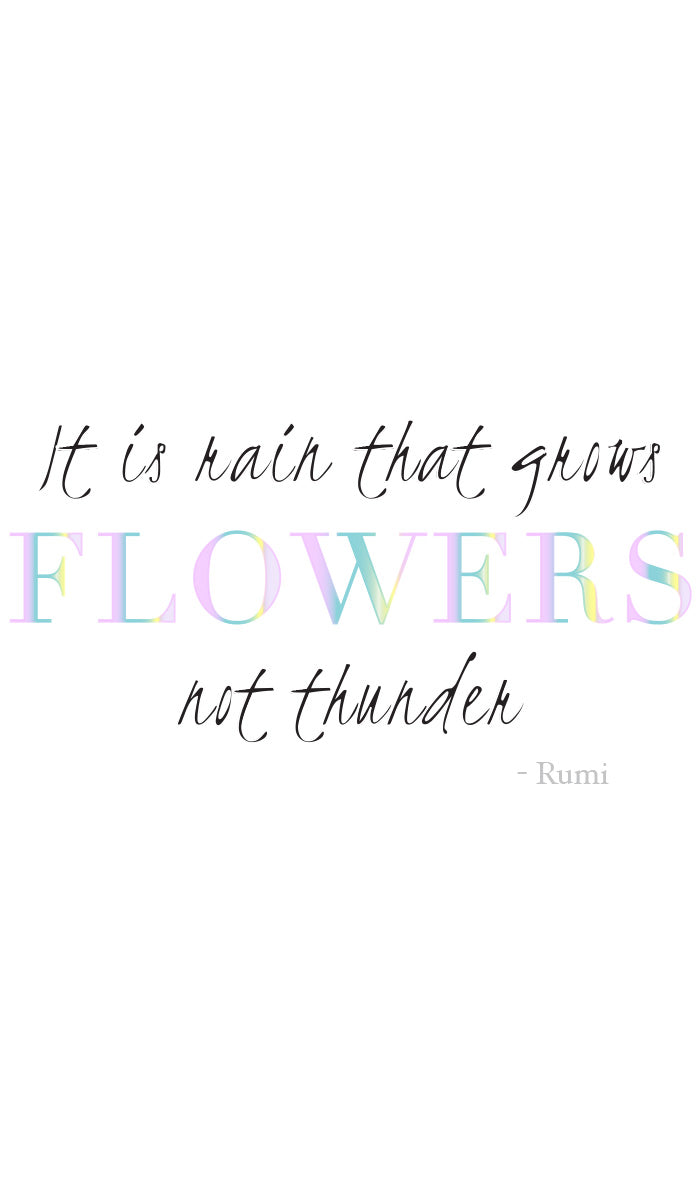 Rumi Quotes Fine Short Sleeve Womens T Shirt - Flowers - White