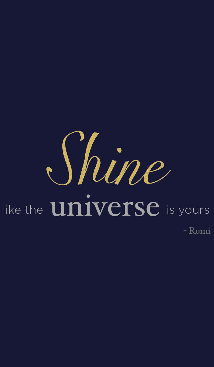 Rumi Quotes Fine Short Sleeve Womens T Shirt - Shine - Navy