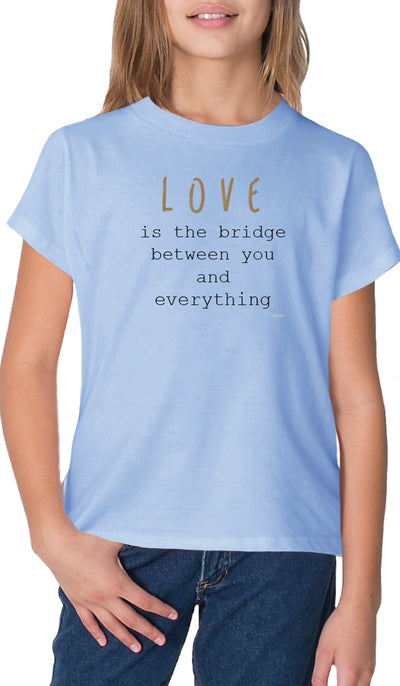 Rumi Quotes Fine Short Sleeve Youth T Shirt - Bridge - Light Blue