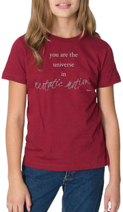 Rumi Quotes Fine Short Sleeve Youth T Shirt - Ecstatic - Maroon