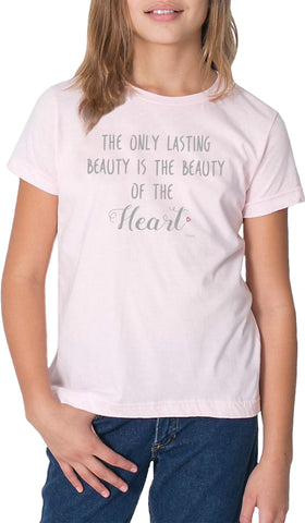 Rumi Quotes Fine Short Sleeve Youth T Shirt - Heart - Light Pink