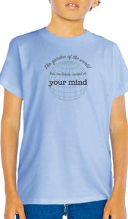 Rumi Quotes Fine Short Sleeve Youth T Shirt - Mind - Light Blue
