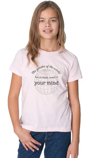 Rumi Quotes Fine Short Sleeve Youth T Shirt - Mind - Light Pink