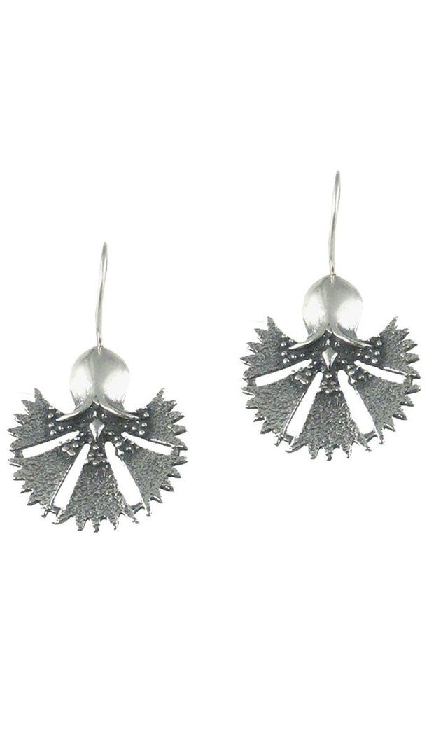 Sterling Silver Turkish Tulip Earrings (medium) - ARTIZARA.COM