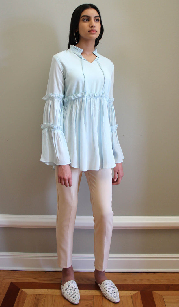 Saba Long Modest Tunic Dress - Aqua