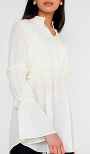 Saba Long Modest Tunic Dress - Cream