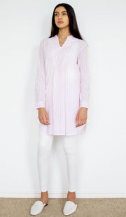 Sadia Long Light Cotton Modest Tunic - Blush
