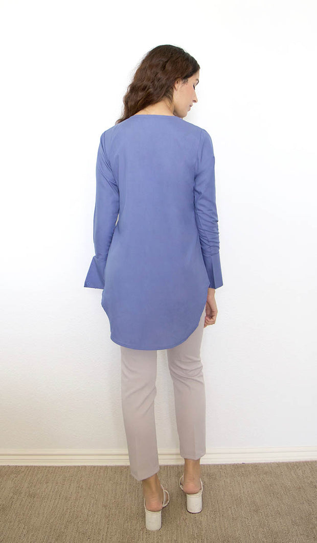 Sima Everyday Mostly Cotton Top - French Blue
