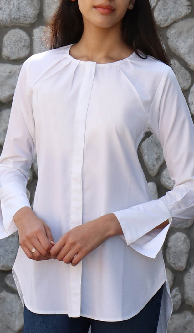 Sima Everyday Mostly Cotton Top - White