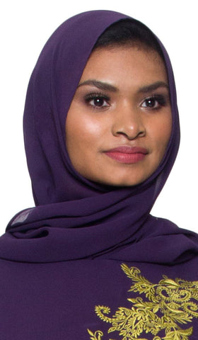 Soft Chiffon Shayla Hijab Scarf - Dark Purple