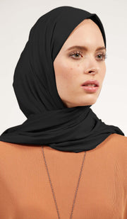 Soft Everyday Jersey Wrap Hijab - Black