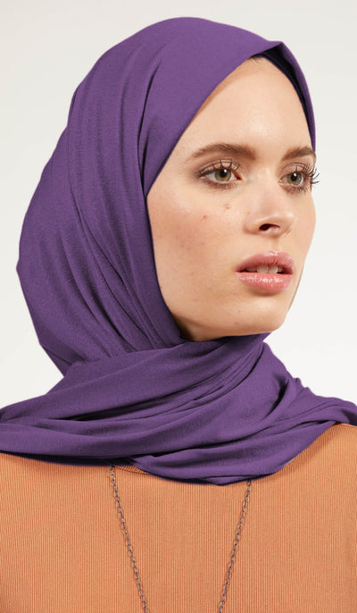 Soft Everyday Jersey Wrap Hijab - Purple