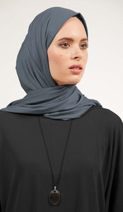Soft Everyday Jersey Wrap Hijab - Slate
