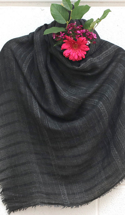 Soft Non slip Striped Go-To Gray Wrap Hijab