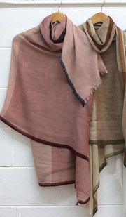 Soft Non slip Wrap Hijab - Dusty Pink Navy and Maroon