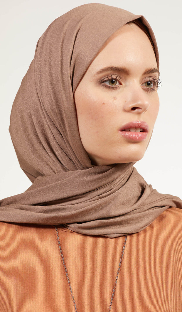 Soft Everyday Jersey Wrap Hijab - Mink