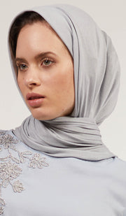Soft Everyday Jersey Wrap Hijab - Silver