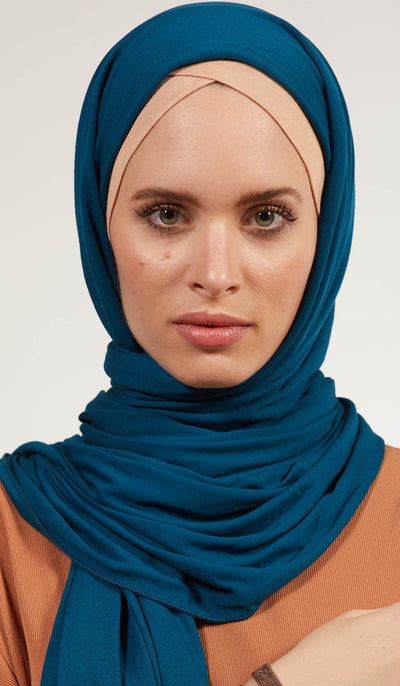 Soft Everyday Jersey Wrap Hijab - Teal Blue