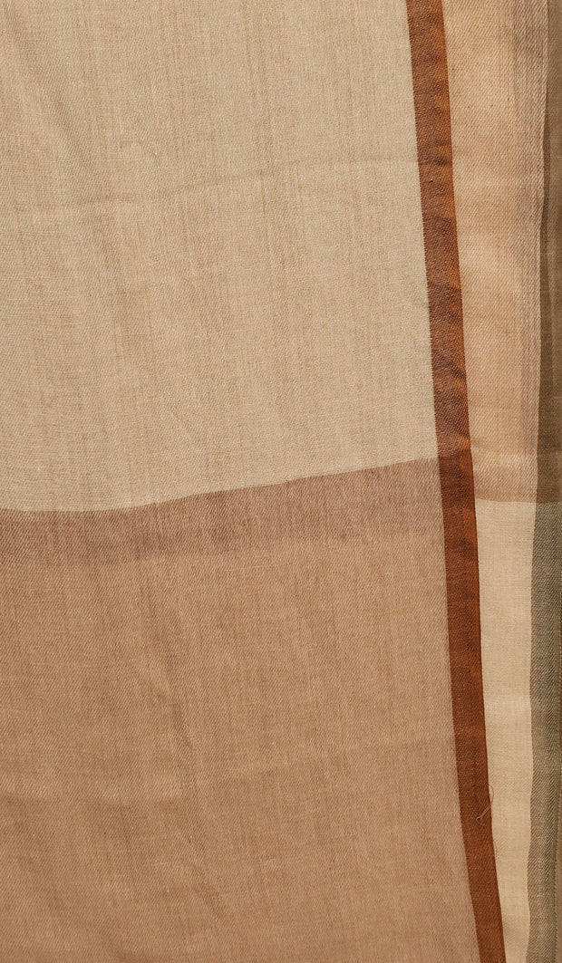 Soft Non slip Wrap Hijab Scarf - Beige, Brown and Olive