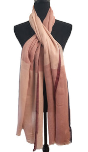 Soft Non slip Wrap Hijab Scarf - Dusty Pink Navy and Maroon