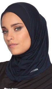 One Piece Stretch Sports Hijab - Navy - ARTIZARA.COM
