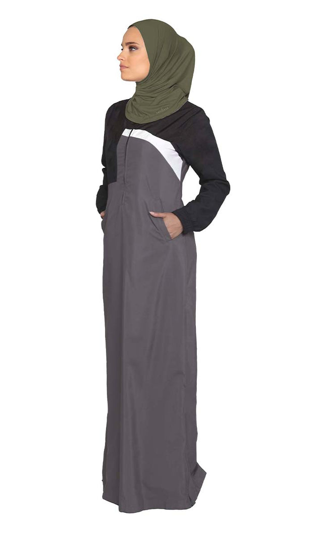 One Piece Stretch Sports Hijab - Olive