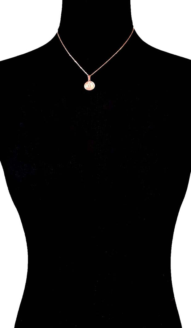 "Sterling Silver Small Reversible ""Protection"" (Ayat al Kursi) Necklace - Rose Gold"