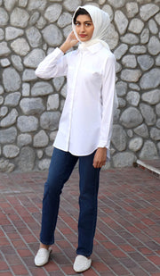 Vadi Classic Mostly Cotton Buttondown Shirt - White
