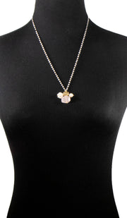 Zahra Contemporary MashAllah Arabic Necklace-Rose Quartz