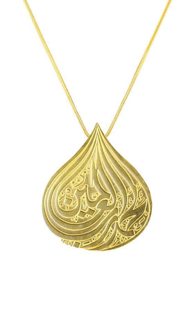 Handcrafted Gold-plated Sterling Silver Thankfulness Necklace - ARTIZARA.COM
