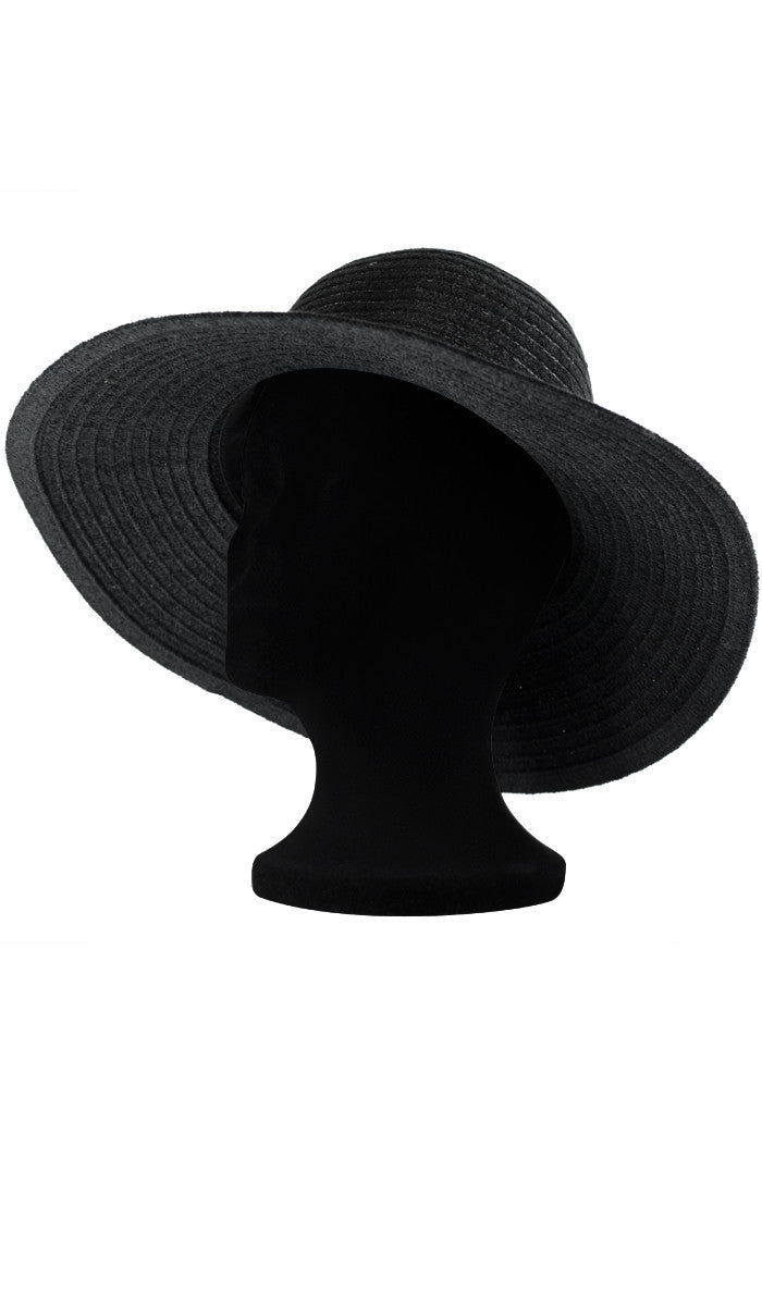 315a138f09a Black Chenille Womens Floppy Hat with Sequins - ARTIZARA.COM