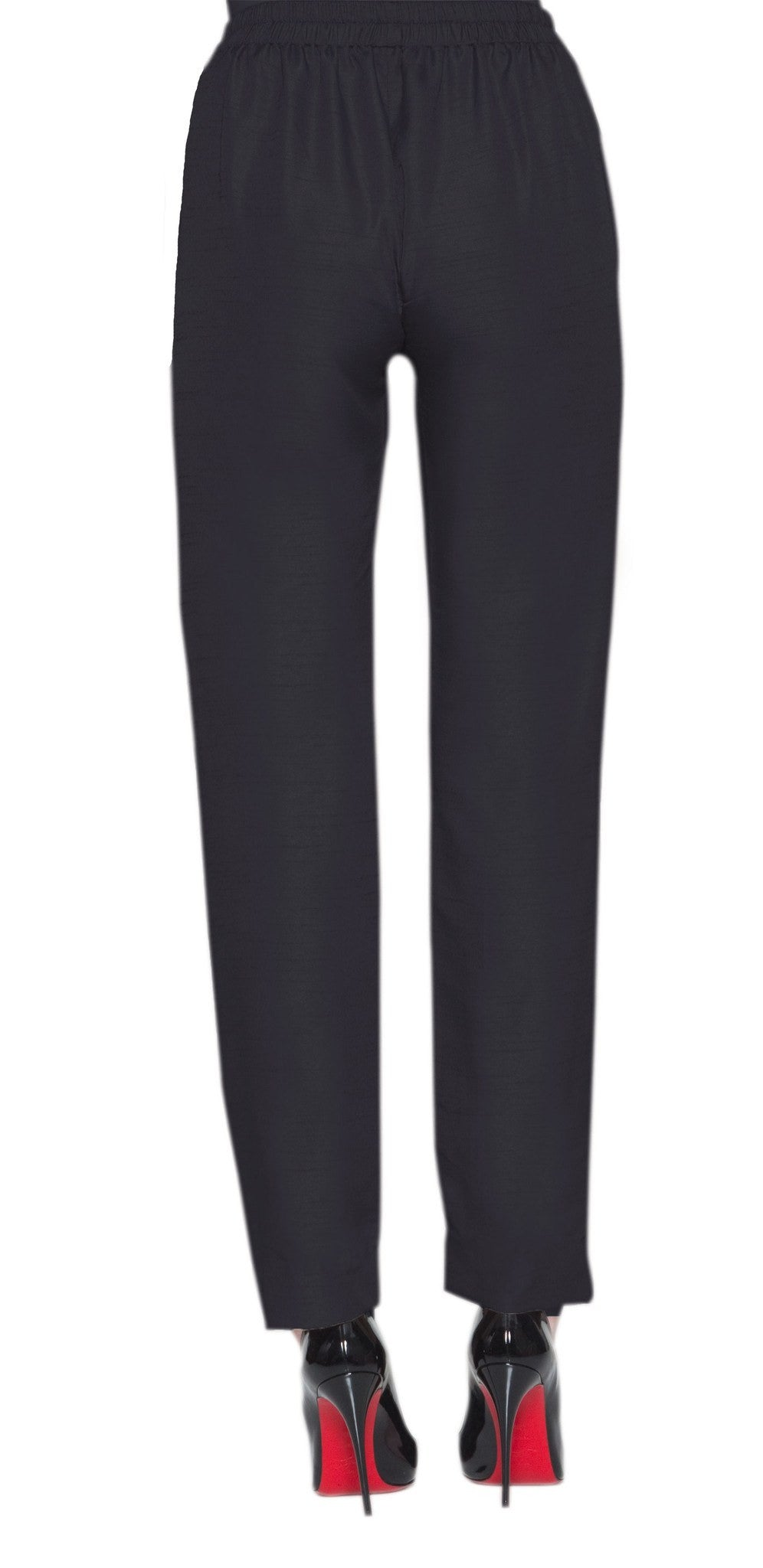 Zohra Tailored Cigarette Pants - Black - ARTIZARA.COM