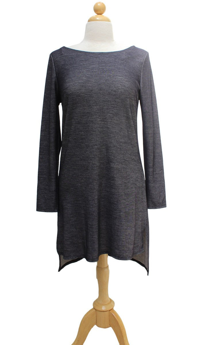Zeela Stylish Everyday Stretch Long Tunic - Denim