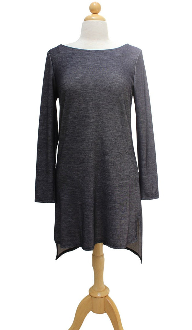 Zeela Stylish Everyday Stretch Long Tunic - Denim - ARTIZARA.COM