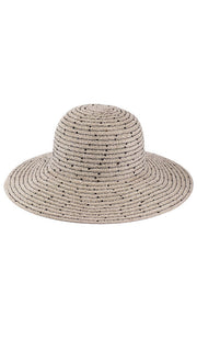 Taupe Chenille Womens Floppy Hat with Sequins - ARTIZARA.COM