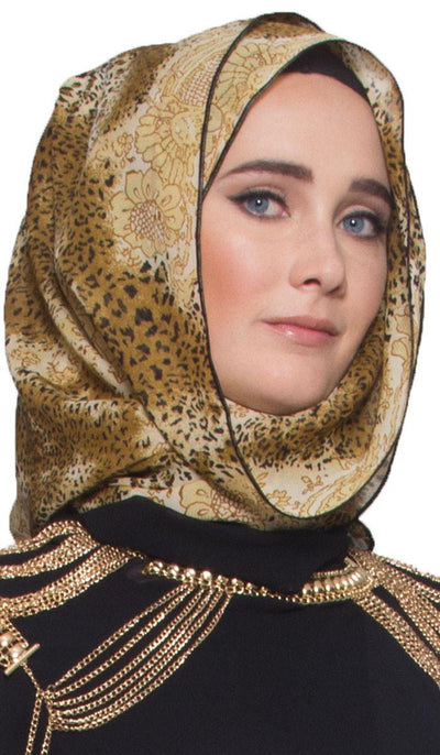 Bold and Beautiful Leopard Print Chiffon Scarf - ARTIZARA.COM