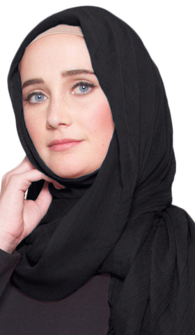 Celebrity Lightweight Non-Slip Extra Large Wrap Hijab - Black
