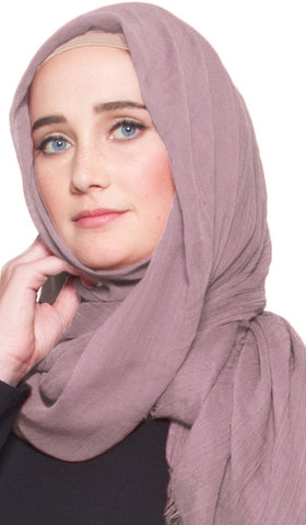 Celebrity Lightweight Non-Slip Extra Large Wrap Hijab - Dusty Lilac