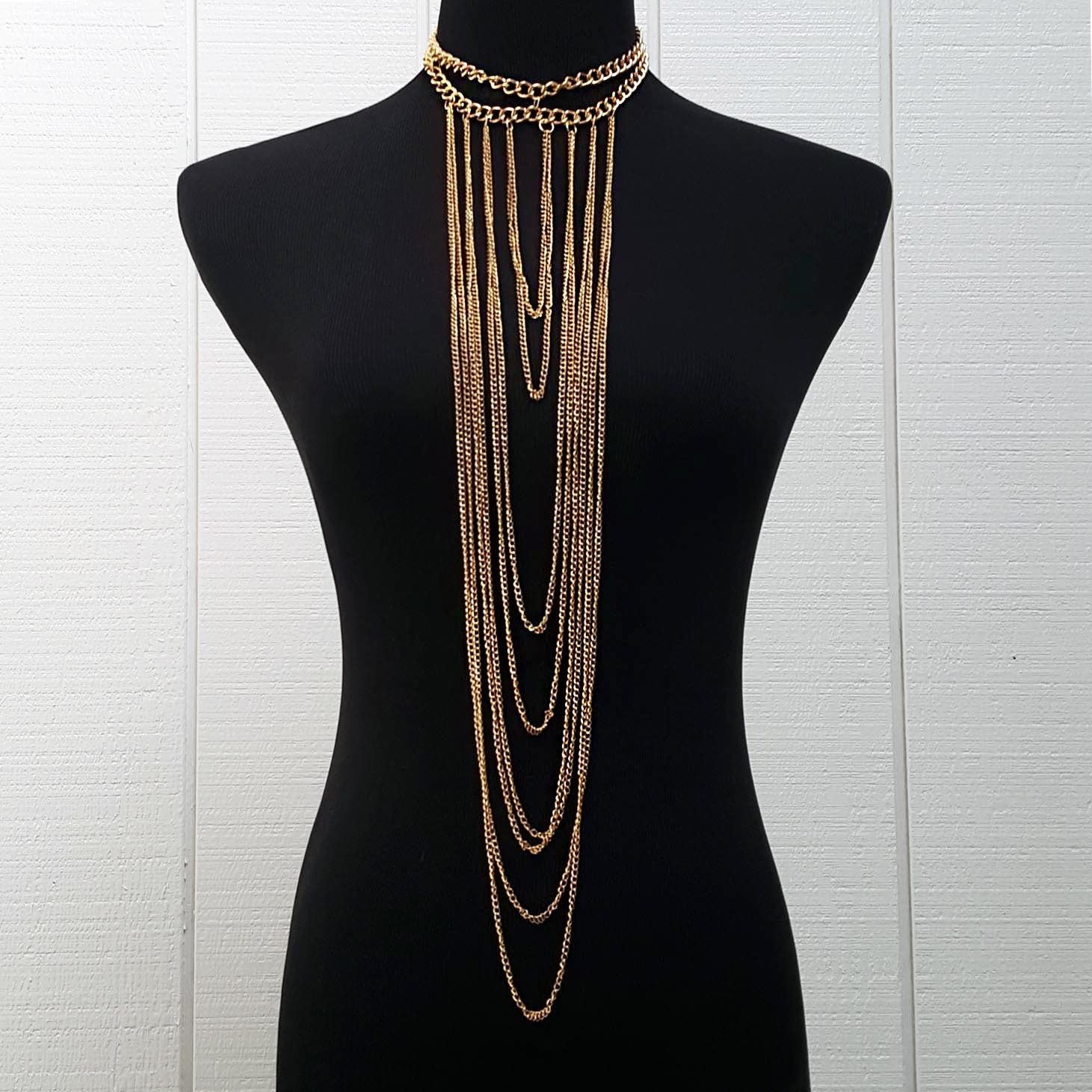 Multi-Chained Choker - Gold