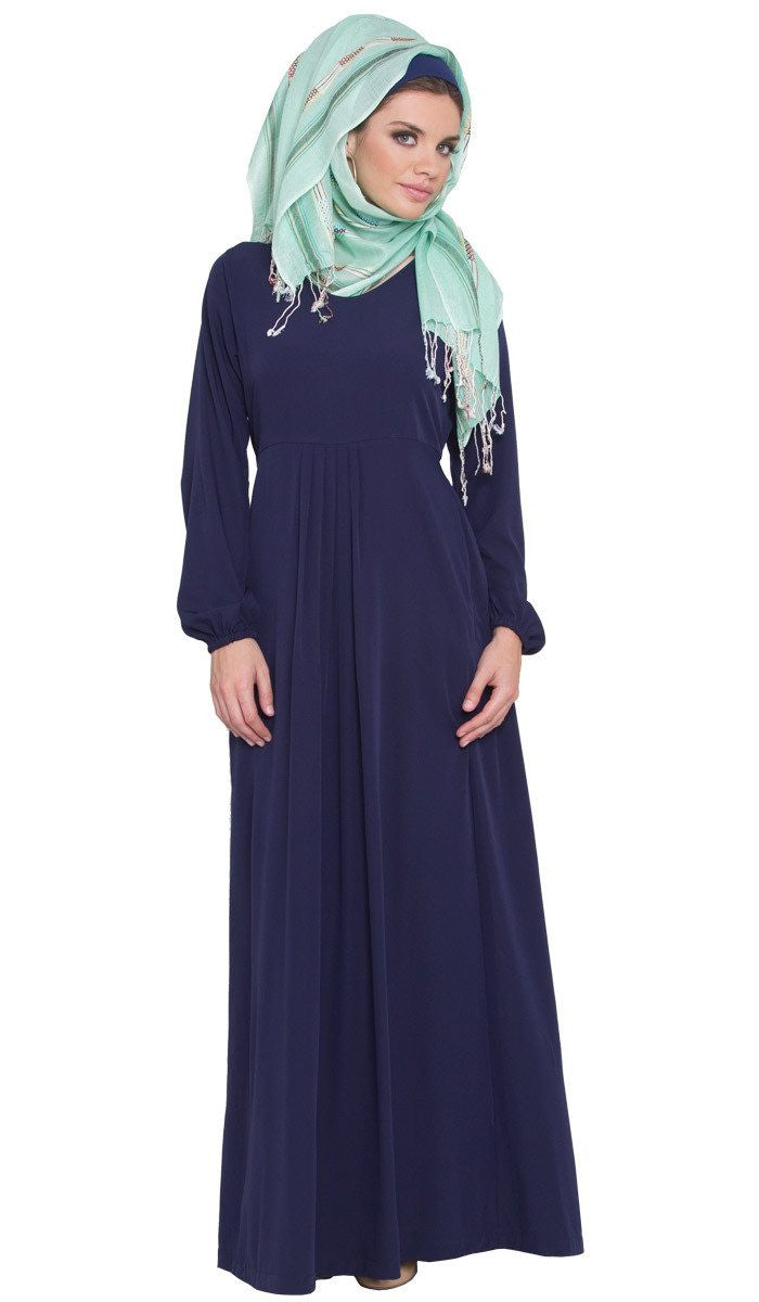Olivia Long Maxi Dress Abaya - Navy - ARTIZARA.COM