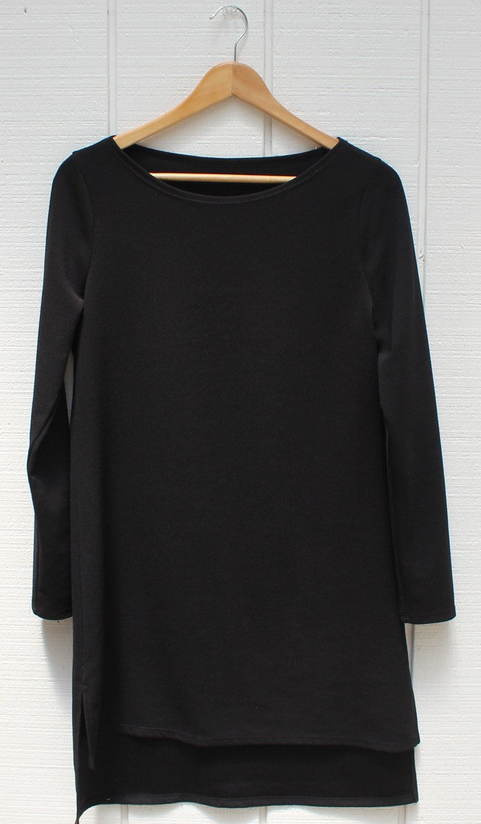 Zeela Stylish Everyday Long Tunic - Black