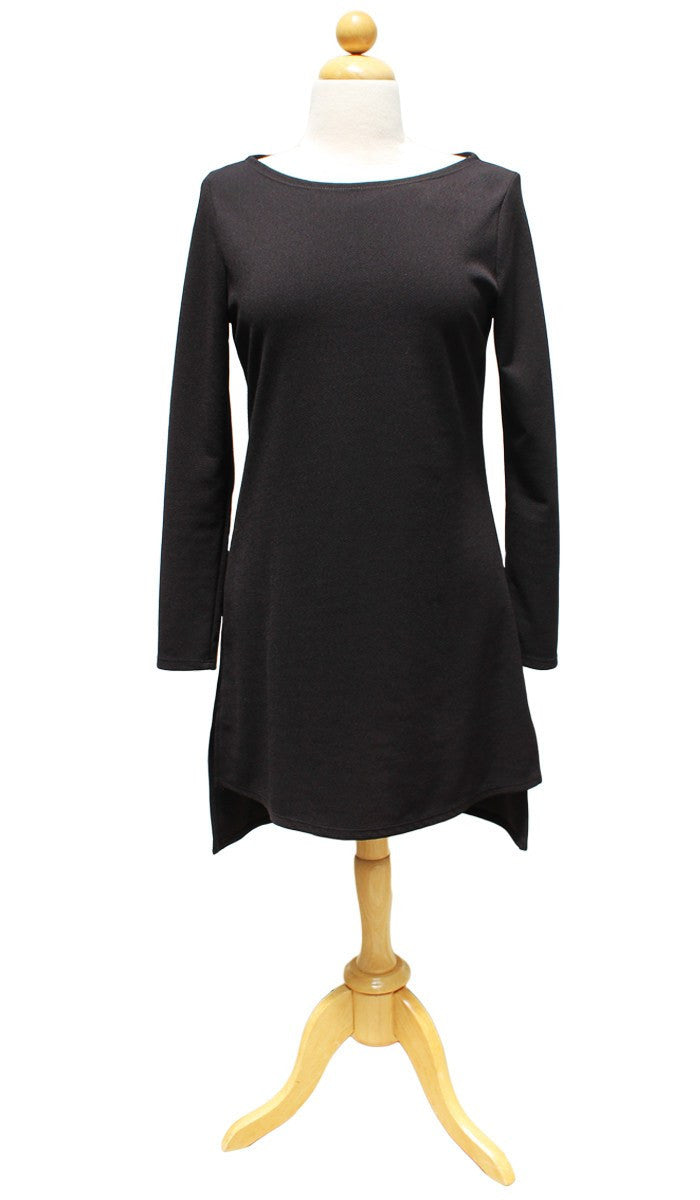 Zeela Stylish Everyday Long Tunic - Black - ARTIZARA.COM