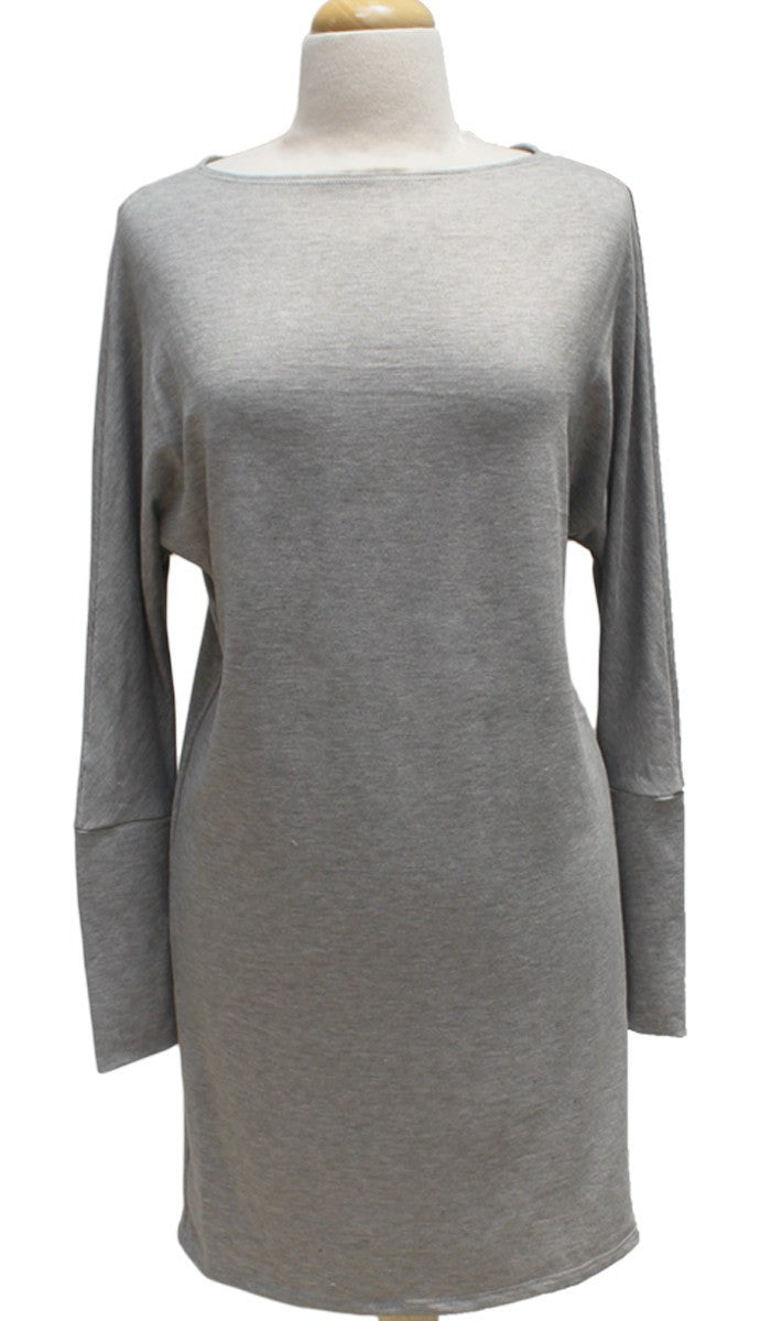 Kate Stylish Dolman Sleeve Stretch Long Tunic - Gray - ARTIZARA.COM