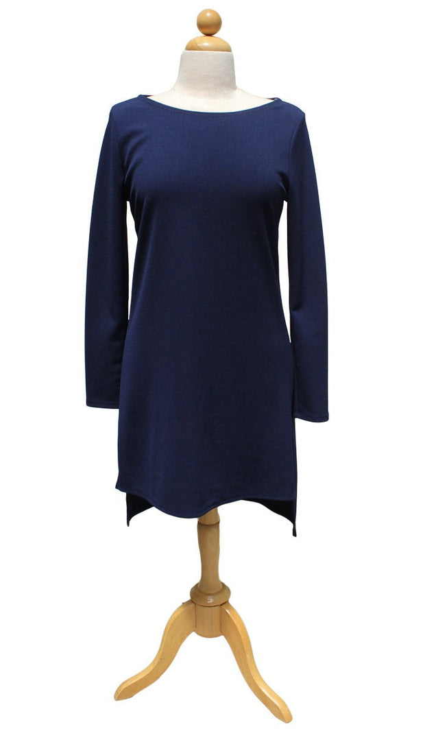 Zeela Stylish Everyday Long Tunic - Navy - ARTIZARA.COM
