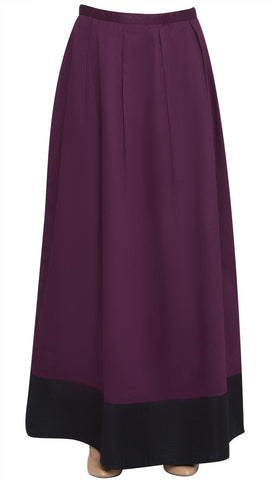 Bella Formal Silky Long Maxi Skirt - Purple