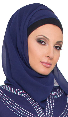 Soft Chiffon Wrap Hijab -Light Navy - ARTIZARA.COM